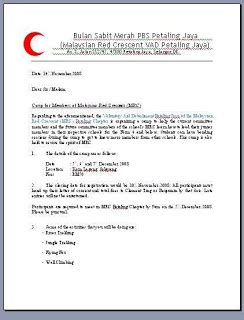 Official Letter Copy To Kem Lagong
