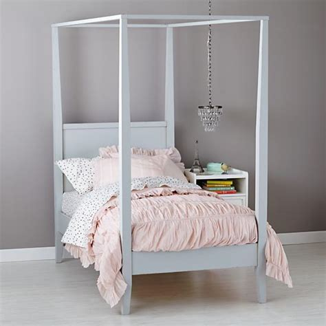 canopy for girls bed girls royal canopy bed the land of nod