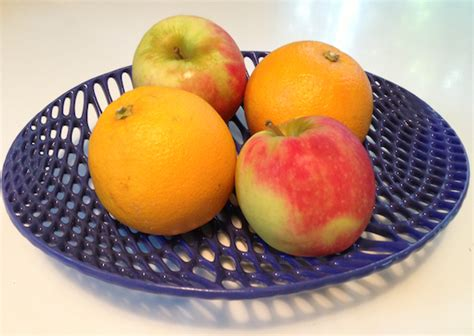 fruit 3d printer yes this ceramic fruit bowl came out of a 3d printer