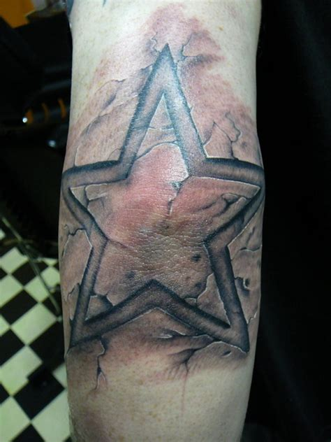 elbow star tattoo on picture at checkoutmyink