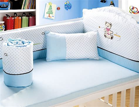 promotion 6pcs baby bedding set cotton baby boy bedding
