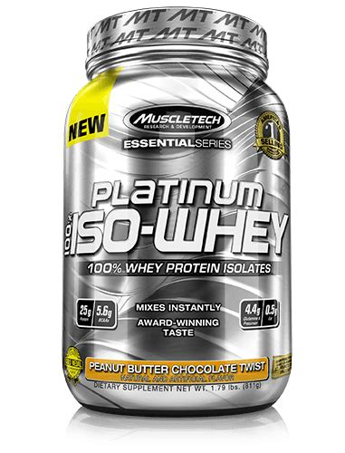Iso Whey platinum 100 iso whey muscletech