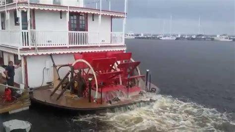 jean mary paddlewheel boat installation of new twin hydraulic wheel motors is