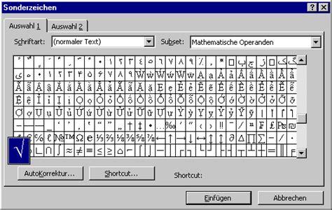 Cad Software tipps quot n quot tricks software word wurzelzeichen in word97