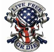 LIVE FREE DECAL GRAPHIC For MOTORCYCLE WINDSCREENS SKULL AMERICAN FLAG