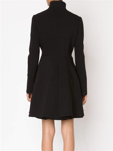 drape coat alexander mcqueen black double folded drape coat lyst