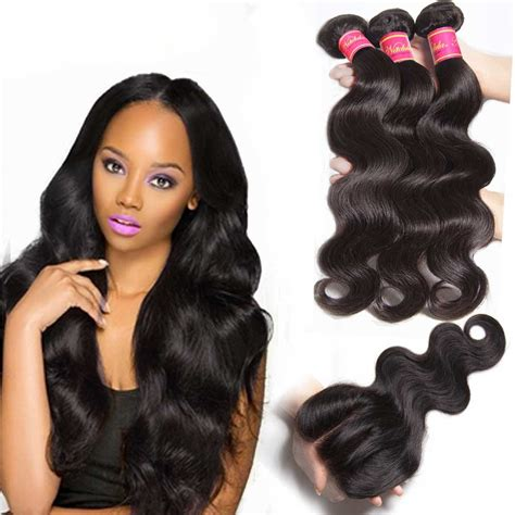 pictures of body wave weave hairstyles nadula 4 bundles body wave hair weave with lace closure