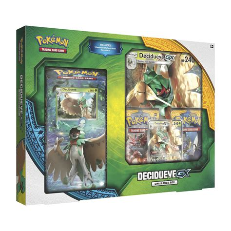 pokemon sun  moon  decidueye gx challenge box