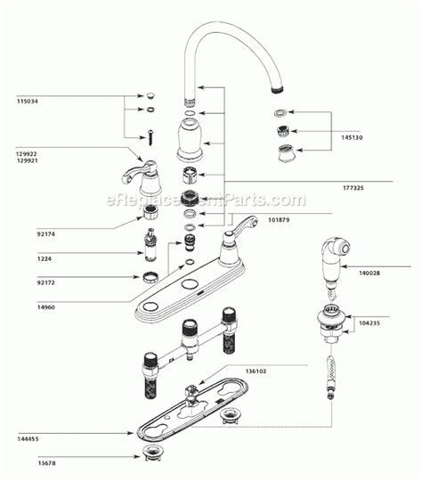parts for moen kitchen faucets moen kitchen faucets parts diagram automotive parts