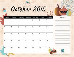 Calendar October 2015 Free Printable Calendar October 2015 S Notebook