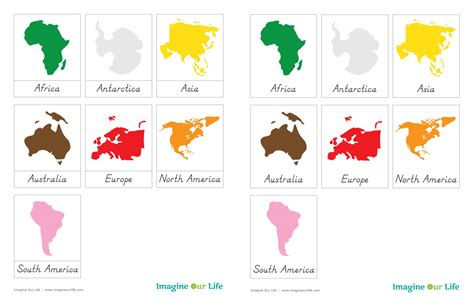 montessori printable templates best photos of patterns for globe continent printable