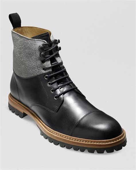 cole haan s boots cole haan judson cap toe boots in black for lyst