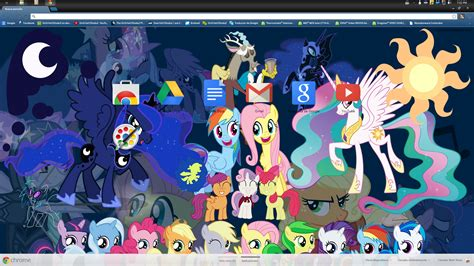 theme google chrome my little pony 012 mlp fim theme for chrome 1920x1080 by