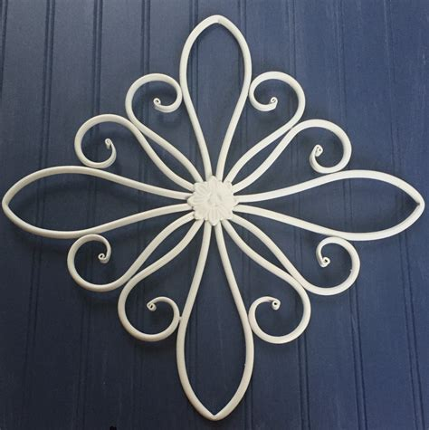 White Metal Wall Decor by White Metal Wall Hanging Large Metal Wall Decor Decorative