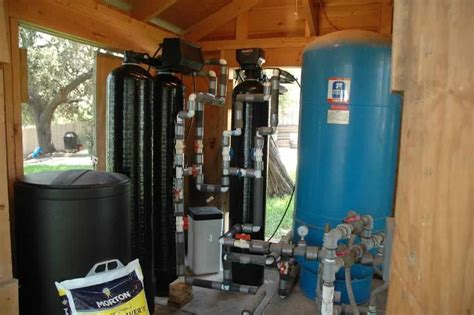 kinetico water softener iron filter after installation of the water softener and iron filter