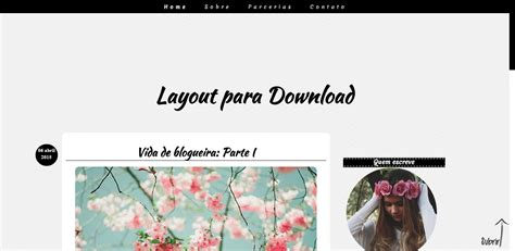 Layout Para Blog Gratuito | layouts free para seu blog parte 2 simples bella