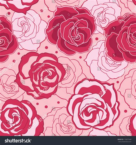 pink pattern free vector pink rose pattern stock vector 110077448 shutterstock