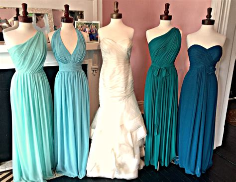 teal color bridesmaid dresses teal ombre bridesmaid dresses search wedding