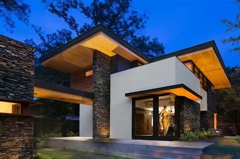 contemporary architecture hgtv cantilevered modern home with stacked stone fresh faces