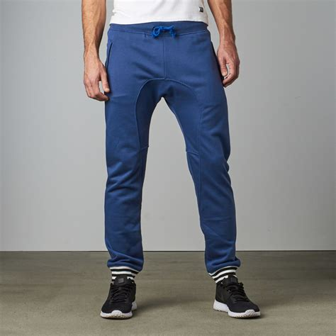 Cotton Lab Essential Jogger Washed Navy Washed zarrow drop crotch jogger navy s zutoq touch of modern
