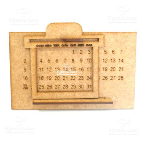 Calendario Permanente Calend 225 Permanente Mdf 3 Mm