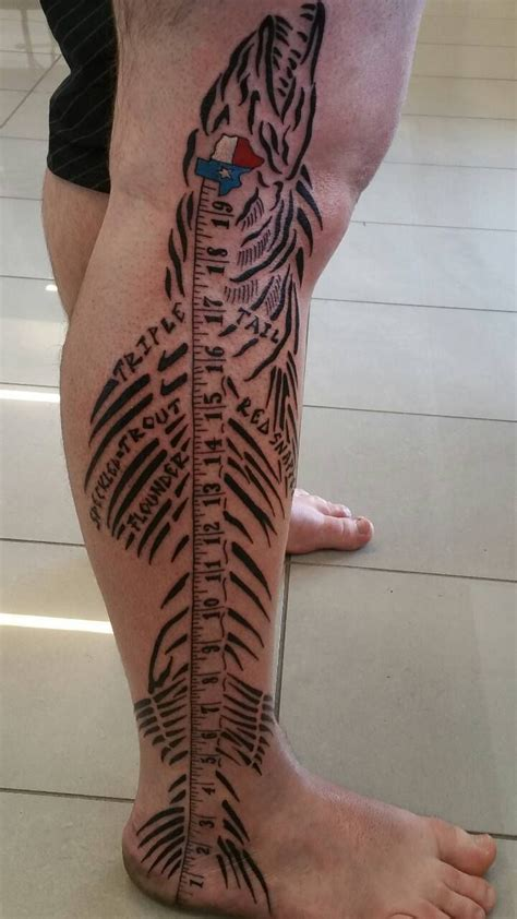 texas themed tattoos houston fisherman gets awesome leg tattoos