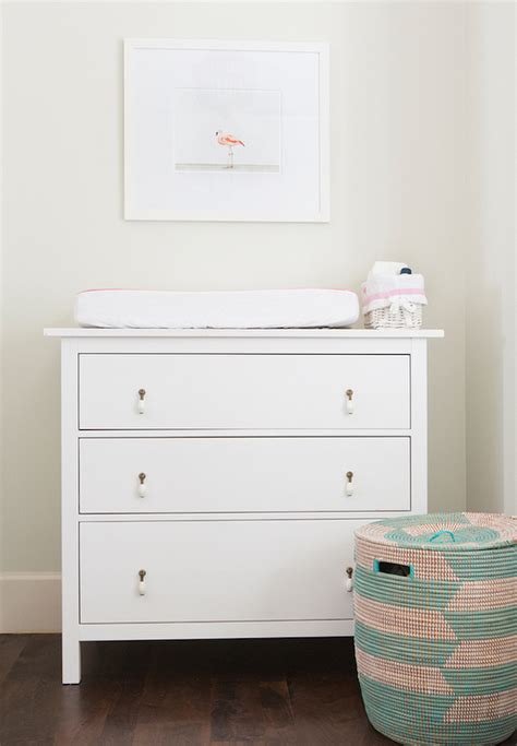 nursery with ikea hemnes 3 drawer chest transitional