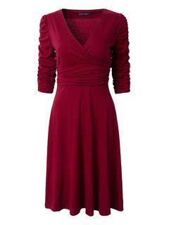 Wap Tunic Dress tunic half sleeve pleated vintage v neck dresses