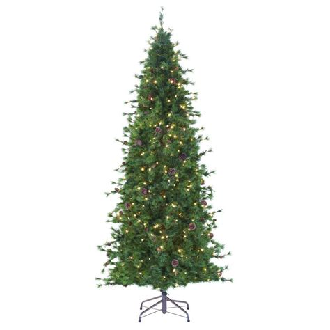 martha stewart living slim christmas tree martha stewart living 8 ft indoor pre lit bristle cone pine slim hinged artificial