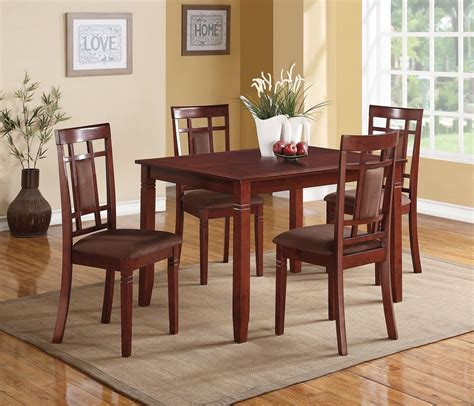 Cherry Dining Table Set Sonata 5 Pieces Cherry Dining Table Set