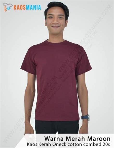 Kaos Polos Warna Merah Maroon harga kaos polos grosir murah bahan berkualitas 100