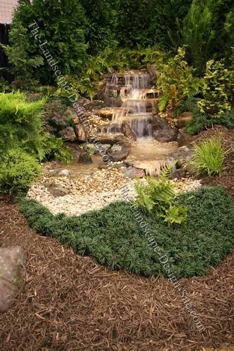 pondless waterfall design ideas garden water gardens