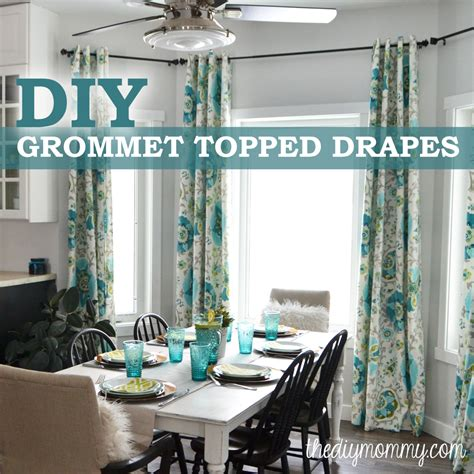 how to make drapes with grommets how to make unlined diy drapes with an easy grommet top