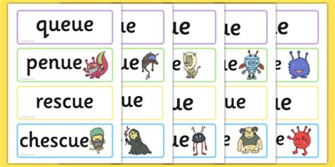 5 Letter Words Containing Zz phase 5 ue flashcards real and nonsense words phase 5