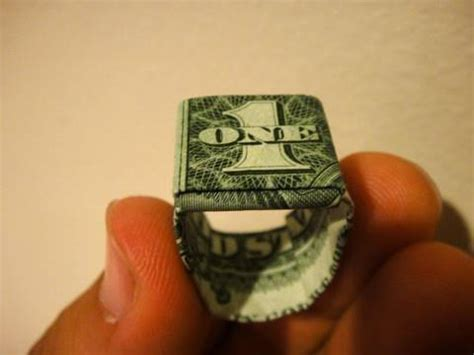 How To Make A Origami Dollar Ring - money 171 learn how to make origami