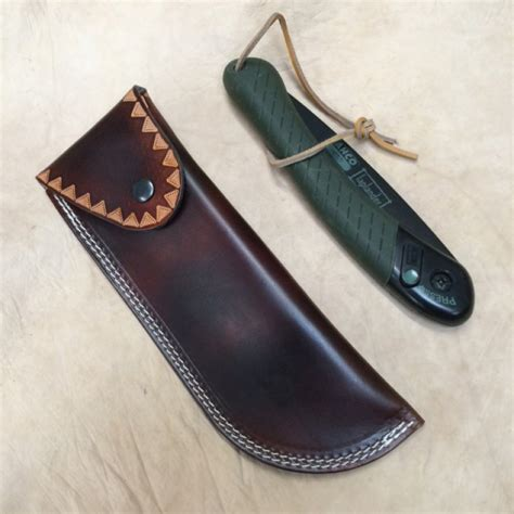 pouch tooled leather belt pouch to fit bahco