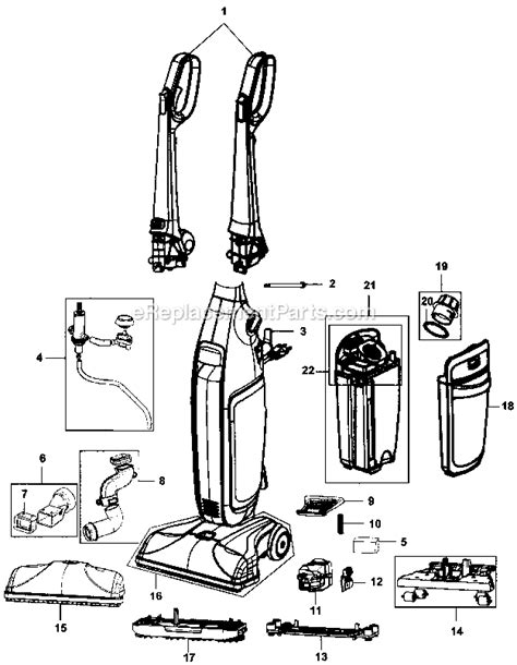 hoover floormate parts diagram hoover fh40160 parts list and diagram ereplacementparts