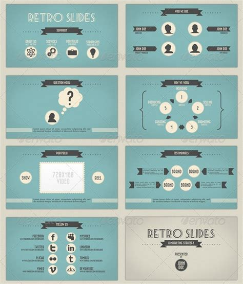 presentation template design beautiful retro and vintage powerpoint presentation