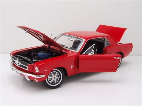Mustang Auto 1964 by Ford Mustang Coupe 1964 5 Rot Modellauto 1 18 Welly
