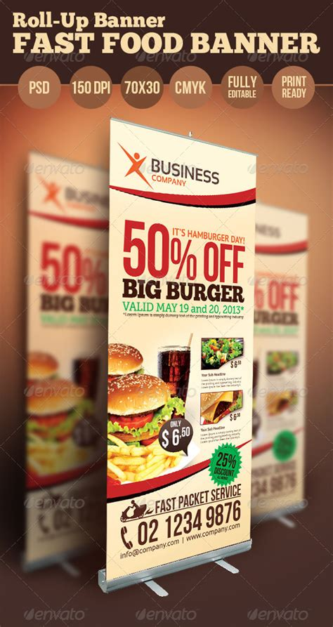 food banner template fast food banner by hsynkyc graphicriver