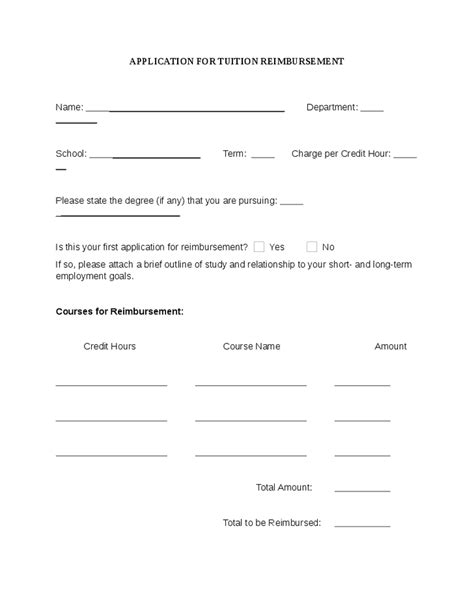 tuition reimbursement form template pin letter of agreement for tuition reimbursement on