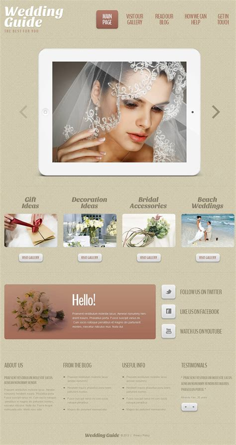 wedding planner responsive wordpress theme 45146