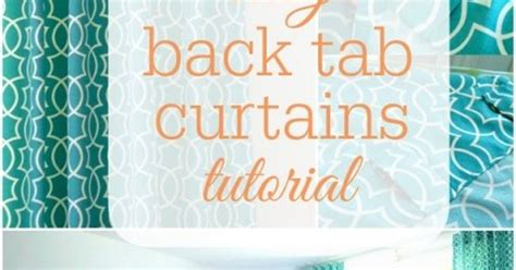 back tab curtains instructions simple sewn back tab curtains curtain tutorial