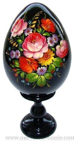 Oeuf Decore Russe by Oeuf Decore Peint Oeuf En Bois Collection Russe Artisanat