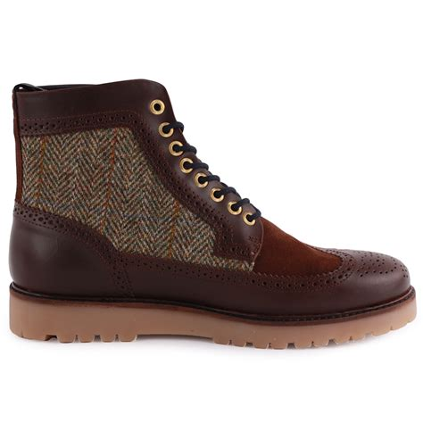fred perry b5283 hortgart mens leather suede chocolate
