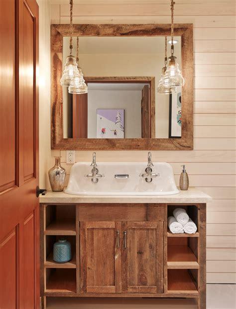 aspen mountain modern rustic bathroom houston