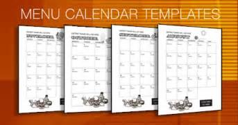 menu calendar template region 13 menu calendar templates