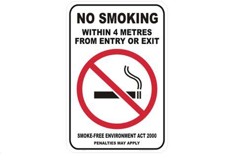 no smoking signs queensland nsw no smoking within 4 metres