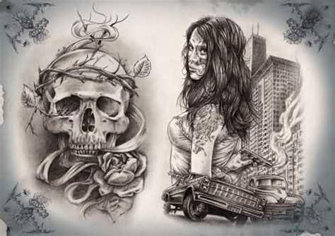 gangster girl tattoo designs 30 gangsta designs