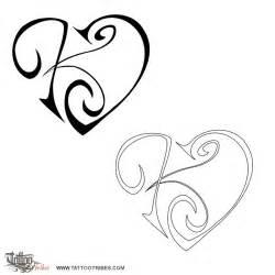 tattoo of k j heart union affection tattoo custom